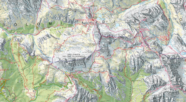 Cartina 3d Dolomiti.Tabacco Editrice Casa Editrice